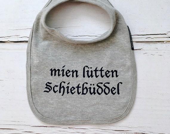 """Baby bib """"mien lütten Schietbüddel"""" - Fair Trade & Organic - Baby gift for birth, Schietbüdel, Sabberlatz, Bib Schietbüddel"""