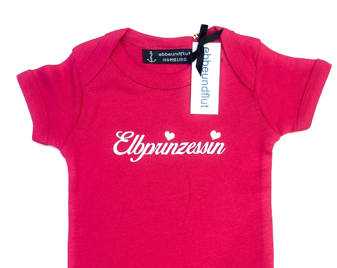 Baby Body Elbe Princess Size 68-fuchsia/pink-Baby strampler, Princess, Elbe, Short sleeve Baby Body for Summer