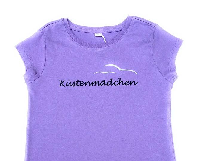 T-shirt Coastal Girl-Flyer-Fair Trade-Kids Shirt, Girl Shirt, Coastal Deer, Hamburger Deern, T-Shirt for Girls, Seagulls