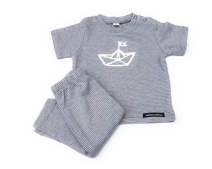 Maritime Baby Set Paper Ships-Light grau/White-Fair & Bio-Baby Gift to Birth, Newborn Gift, Paper Ship, Folding Boat