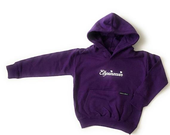 Elbe Princess Hoodie Purple 1/2 J, 3/4 J. 5/6 J.  Hoodie for Kids, Soft Hoodie, Kids Hoodie, Christmas Gift