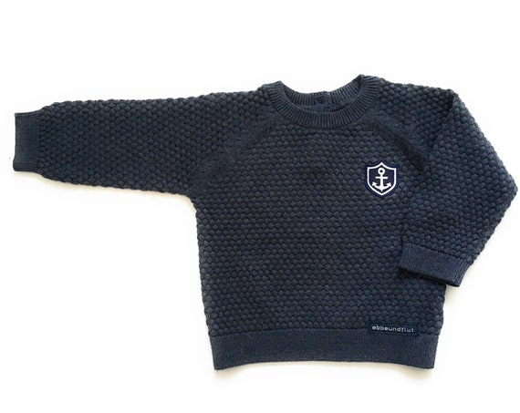 Baby Sweater Anchor Coat of Arms - Maritime Knit Sweater Boy Maritim, Sweater, Gift for Birth, Baby Gift Hamburg