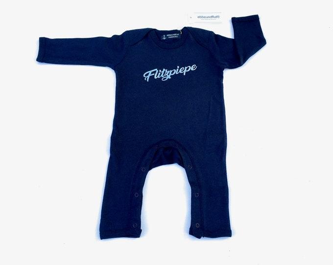 """Baby romper """"Flitzpiepe"""" - Fair Trade - romper, pyjamas, all-in-one, playsuit, rompasuit, onesie, baby pyjamas, Berlin"""
