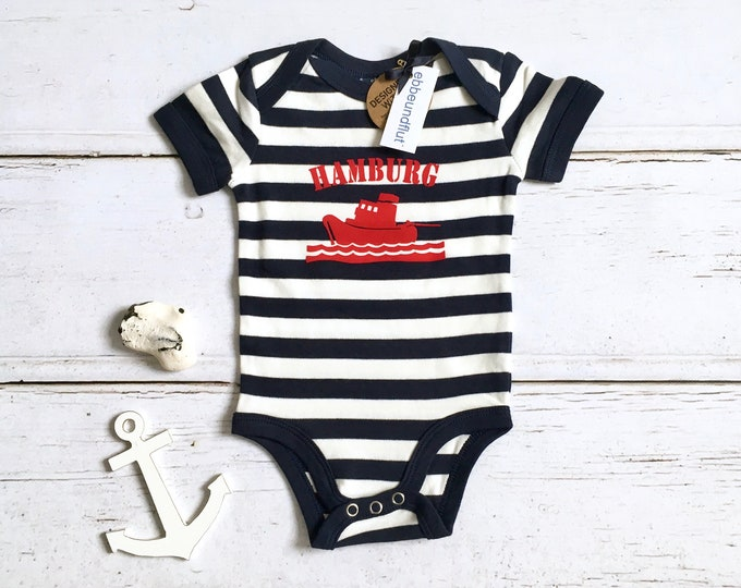 Maritime Baby Body SCHLEPPER HAMBURG - fair - Hamburg Gift, Gift for Birth, Hamburg, BabyBody Hamburg Ship