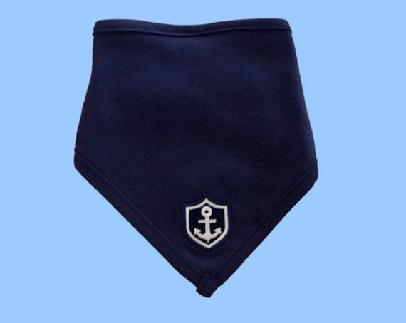 "Maritime Baby Scarf ""Little Captain"" - fair - fair trade, Hamburg gifts, birth gift, baby, baby party, baby gift, anchor"