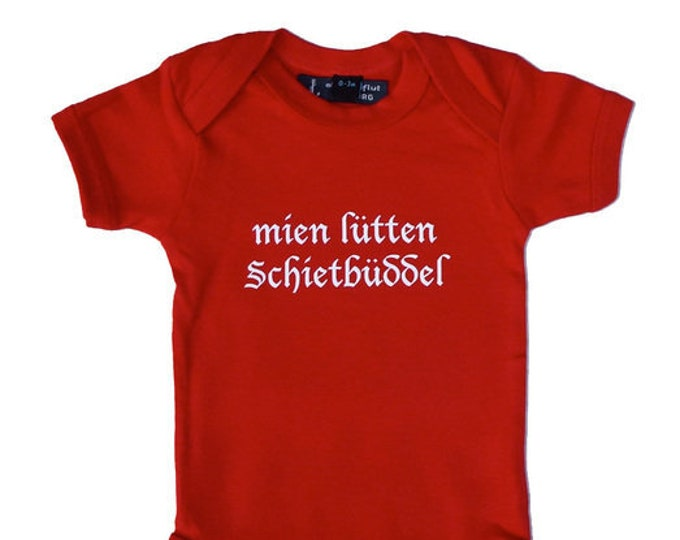 "Baby-Body ""mien lütten Schietbüddel""-fair-hamburger Deern, Hamburg Gift, Platt German, north German, Schietbüdel"