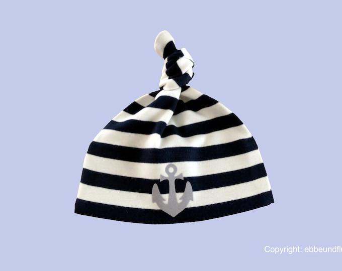 Maritime Baby Cap Anchor Hamburg-fair-baby hats, fair trade,