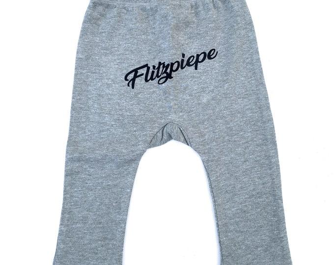 Flashpiepe Baby Pants - Baby Gift for Birth, Baby Gift Boy, Berlin, Pants, Cute, Cheeky, Berlin Saying, Berlin Boy