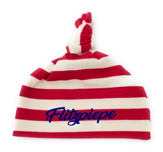 Baby Beanie FlashPiepe - Fair Trade & Organic - Knot Hat, Baby Hat, Baby Gift at Birth, Berlin Gift