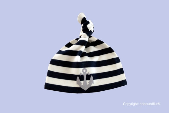 Maritime Baby Cap Anchor Hamburg-fair-baby hats, fair trade,