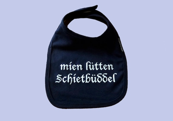 """Lätzchen """"mien lütten Schietbüddel"""" - FAIR TRADE - Sabberlatz, maritimes Lätzchen, Schietbüdel, Hamburg Geschenke, Geschenk zur Geburt"""