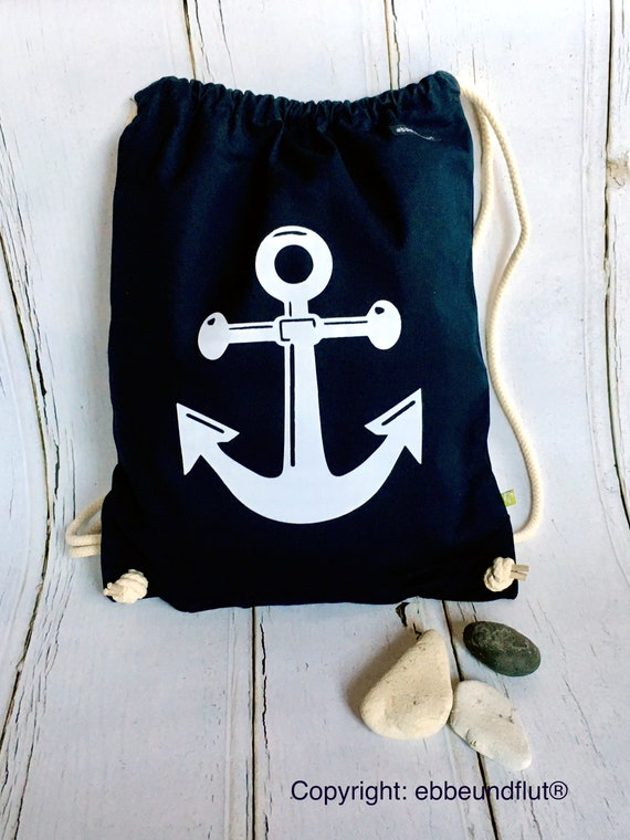 Ankerbüdel/Turn Bag anchors-Hamburg, Maritim, Ebb and Flow, ebbeundflut, sports bag, backpack, anchor, Anchor Love, Büdel, anchor Bag
