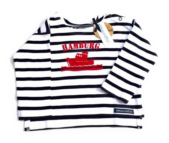 Baby Shirt SCHLEPPER HAMBURG-Ship, Hamburg Shirt, Hamburg Young, Gift of Birth