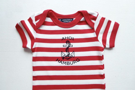 Maritime Baby-Body Ahoy Hamburg-Fair Trade