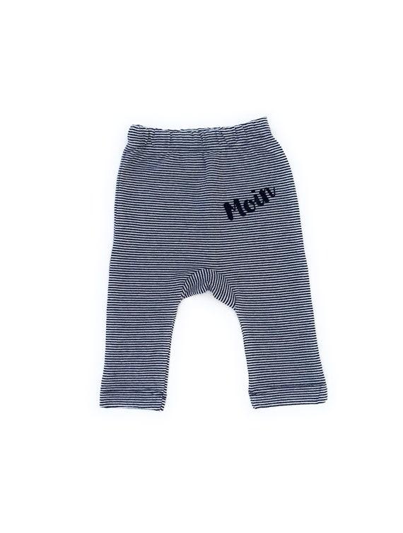 Maritime Baby Pants Moin Dark Blue/White - Fair Trade & Organic - Birth Gift, Baby Pants Moin, Hamburg Baby Gift