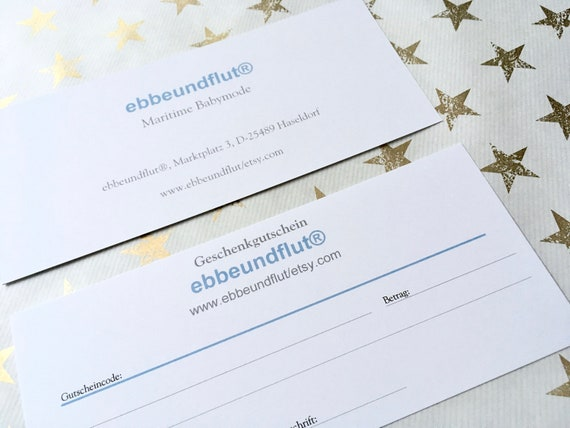 Gift voucher 20 euros ebbeundut, voucher, gift for baby clothes, gift voucher Christmas, friends, family, baby gift