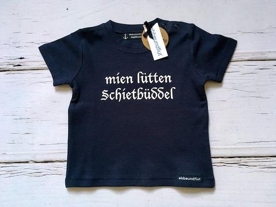 "Maritimes baby-Shirt ""mien lütten Schietbüddel""-Fair Trade, Schietbüdel, Schietbüddel, Lütt, flat German, North German, baby gift"