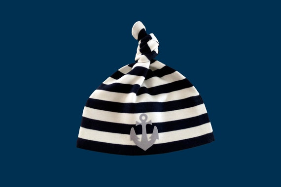 Maritime Baby Hat ANKER HAMBURG - Fair Trade & Organic - Knot Hat, Baby Gift for Birth, Baby Hat Anchor