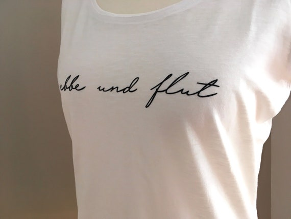"Women's T-Shirt ""ebbe und flut"" - white - Oversized, Women's shirt, Hamburg shirt ebbeundflut, - S, M, L"