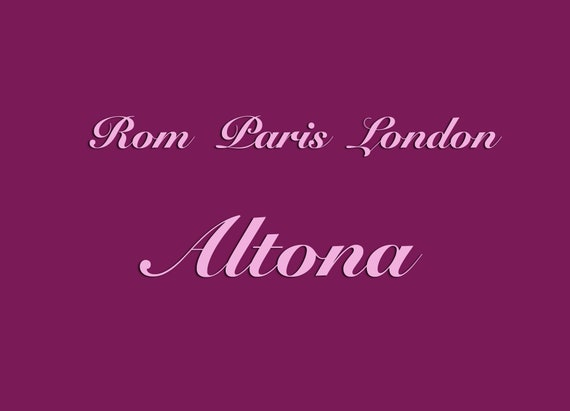 "Postcard ""Rome Paris London Altona""-Hamburg Postcard, Hamburg, District District, District Map, Rome Paris, London, Ottensen, St. Pauli, Altona"