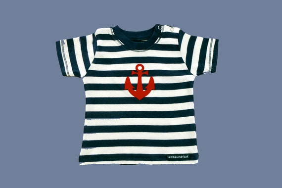 Maritimes Baby shirt anchor Hamburg-Fair trade-blue white, Hamburg gift, gift for birth, baby, baby gift, baby T-shirt anchor