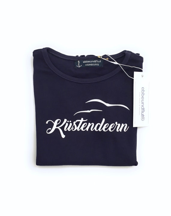 T-Shirt Coastal Deern - Dark Blue - Girl Shirt for Lütte Küstendeerns