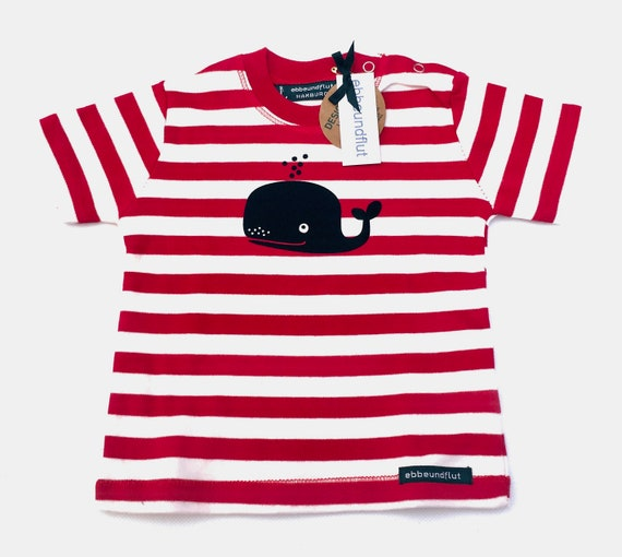 Maritime Baby Shirt Wal-r/w-fair-hamburg gifts, gift for birth, baby gift, baby, Babyshirt, whale, maritim, Striped
