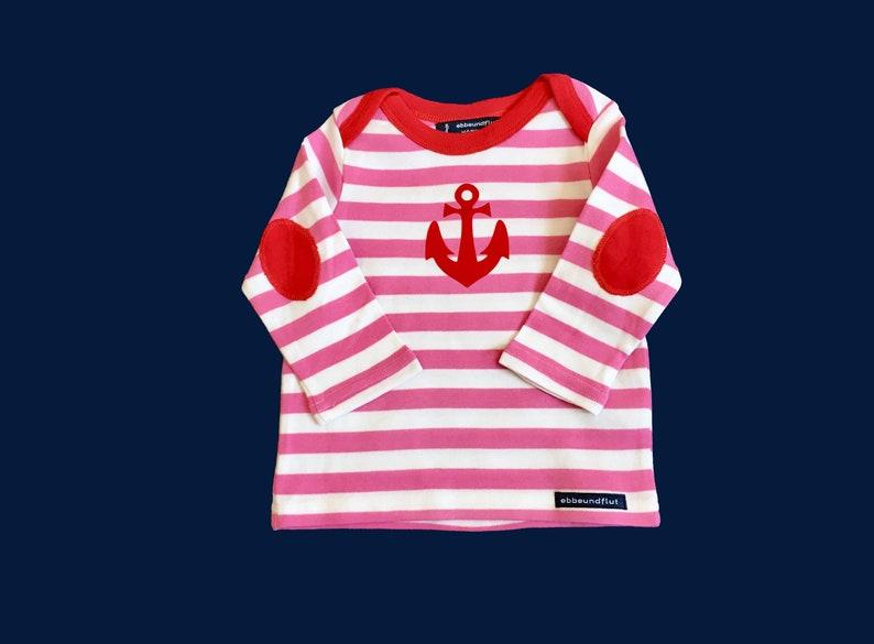 3bd9ba284 Baby Long sleeve shirt anchor Hamburg-fair-Pink white Hamburg | Etsy