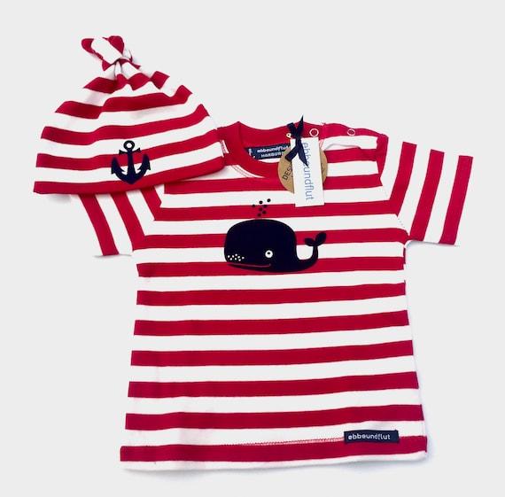 Maritime Baby-Shirt & Cap Wal-R/W-Fair