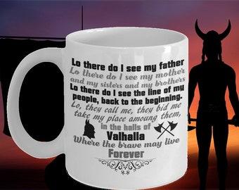 f709b6baf0f8af Valhalla Viking Prayer Mug Lo There Do I See My Father Viking Gifts Viking  Gift Ideas Gifts for Boyfriend Husband Gift Idea Viking Inspired