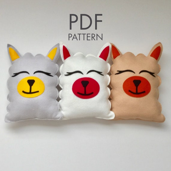 Diy Felt Llama Stuffie Pdf Pattern Felt Crafts Nursery And Etsy