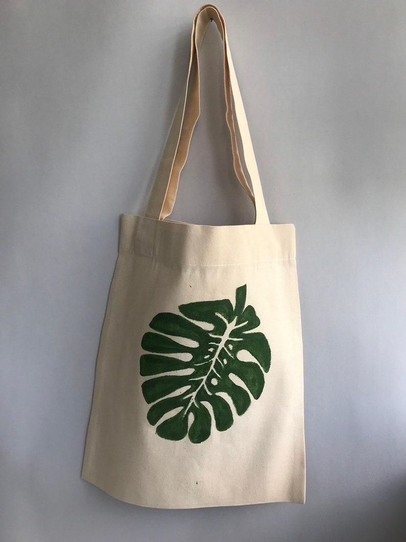 green leaf grocery bag market bag bag with leaf Leaf print bag shopper bag summer beach bag green shopping bag shopping bag eco bag