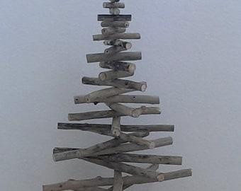 Christmas tree made of driftwood