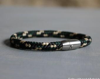 Bracelet   TAU   vegan   camouflage   6mm
