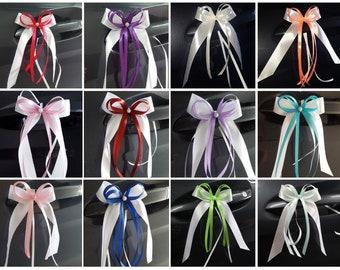 Dekoration Zierschleifen 10 Antennenschleifen Autoschleifen Taufe Hochzeit