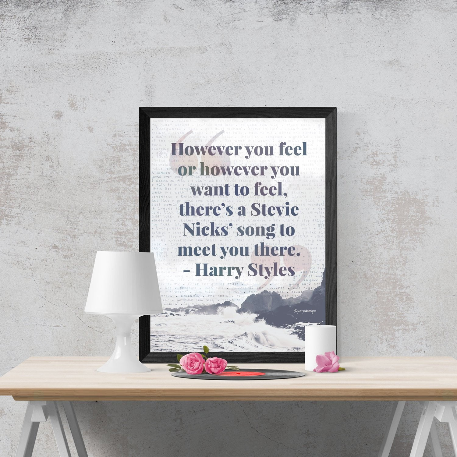 Stevie Nicks Songs Art Print Poster Harry Styles Quotes