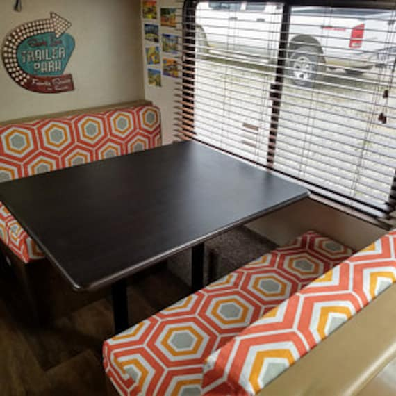 Peachy Custom Order Bench Seat Covers That Transform Your Trailer Motor Home Van Rv Or Camper Caraccident5 Cool Chair Designs And Ideas Caraccident5Info