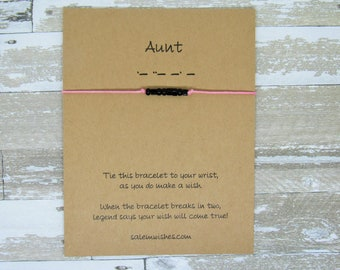 Aunt Wish Bracelet Morse Code Bracelet Aunt Gift Gift for Aunt Auntie Gift Unique Gift for Aunt Morse Code Gift for Uncle Uncle Gift & Gift for uncle | Etsy