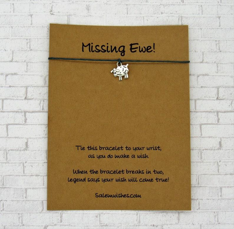 Farmer Gift Sheep Wish Bracelet Farm Animal Gift Sheep Gift Cute Sheep Gift Missing You Gift Sheep Jewelry Colorado Funny Sheep Gift