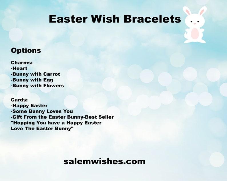 Some Bunny Loves You Wish Bracelet Easter Gift for Her Easter Easter Idea Easter Gift for him Easter Basket Filler Unique Easter Gift