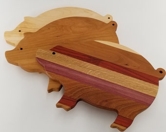 Beautiful Handcrafted Pig Cutting Board, Cheese Board, Charcuterie Board, Wood Cutting Board, Great House Warming Gift
