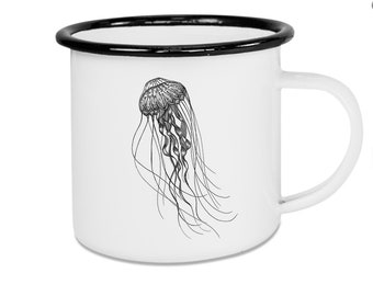 Enamel cup deep-sea jellyfish