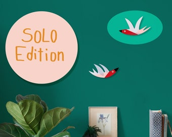 Wall decoration   Cozy Swallows   Solo Swallow Paper   Paper birds   Wall decoration   Children's Room Decoration