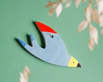 Swallow light blue   Bird   Wall decoration   Pottery Art   Sculpture   Wallhanging   Clay figure