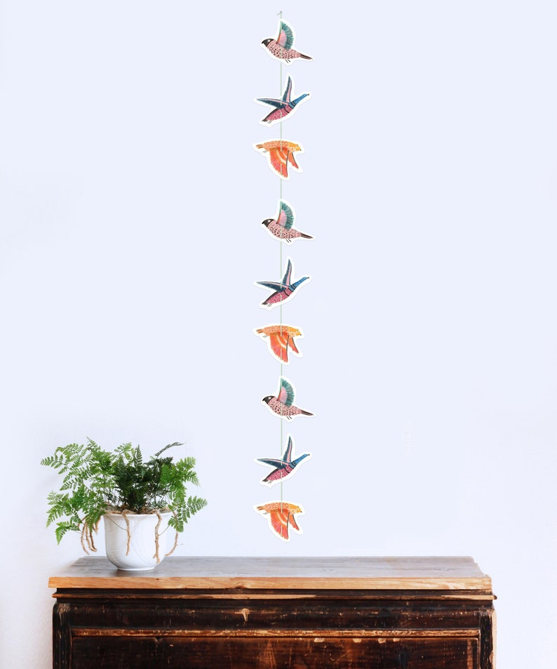 Wild Bird Garland 9-piece  Mobile  Pennant  Wall image 0