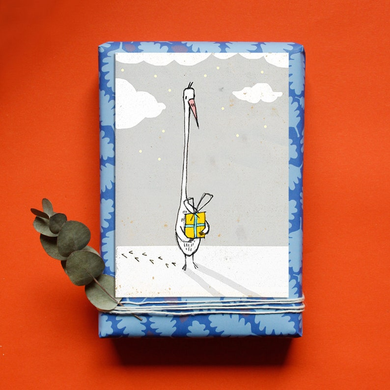 Christmas Greeting Card  Goose Gift  Christmas Card  image 0