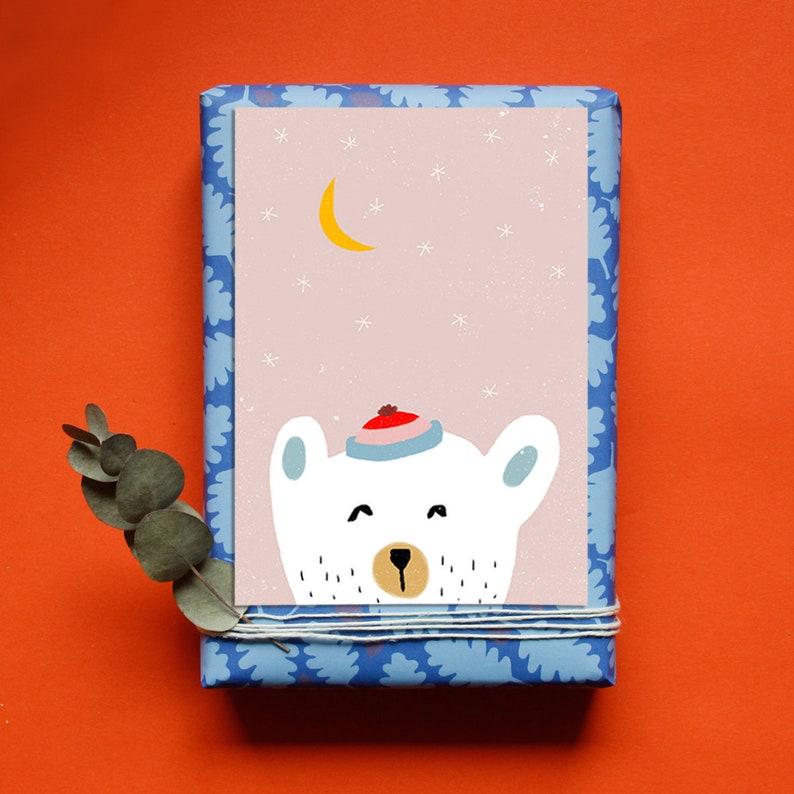 Christmas Card  Postcard  Polar Bear  Winter image 0