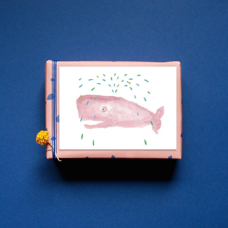 Postcard  Greeting Card  Sperm whale Rosie  Whale  Sea  image 0