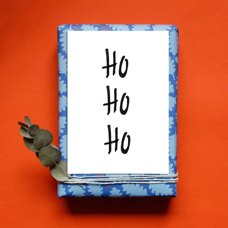 Postcard Christmas  Ho Ho Ho  Christmas Card   Greeting image 0