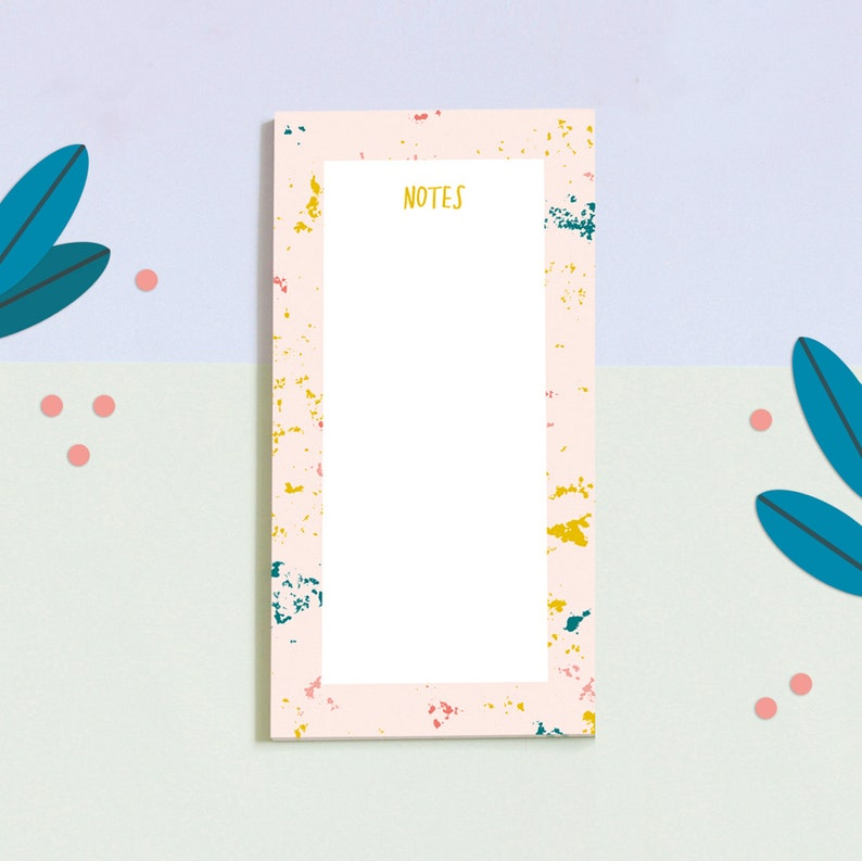 Notepad Marble  Notes Terrazzo  to do list image 0